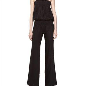 YFB Strapless Linen jumpsuit
